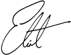 eliot's signature