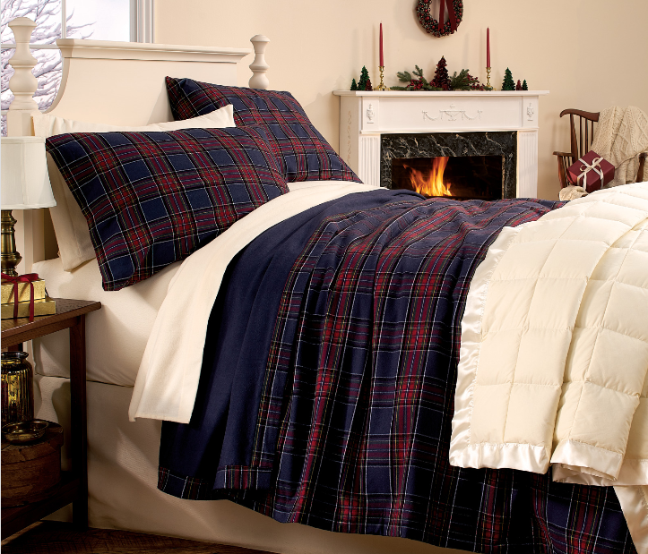 christmas flannel bedding