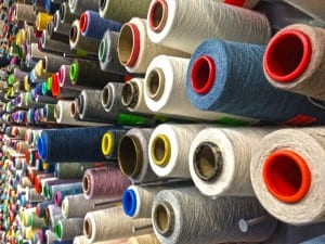 Spools of long staple cotton thread