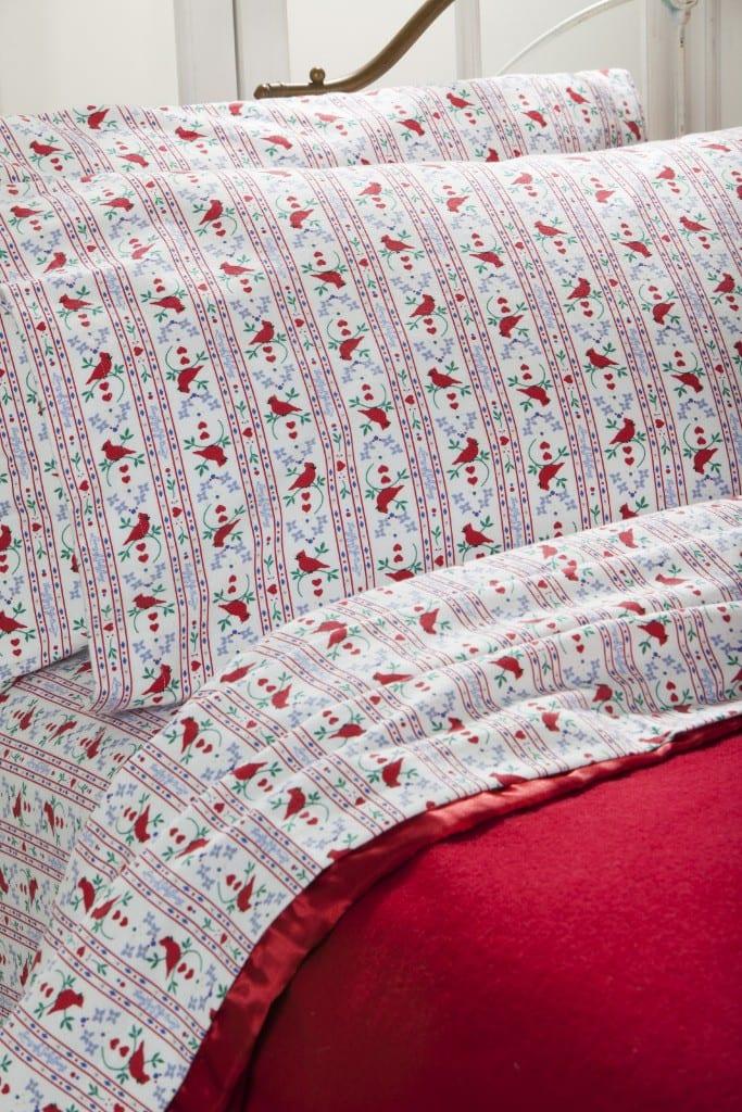 Our NEW Lanz of Salzburg Cardinal Tyrolean Flannel Sheet Set