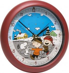 Peanuts Gang Christmas Caroling Clock
