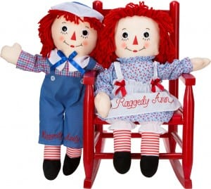 CRaggedy Ann and Andy plush dolls