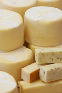 Sample some of the many award-winning Vermont cheeses.