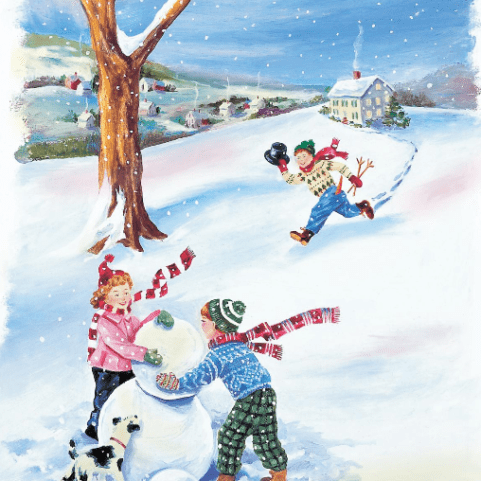 build a snowman illustration