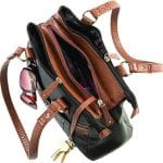 Stone Mountain Leather Satchel has plenty of organizing pockets and compartments
