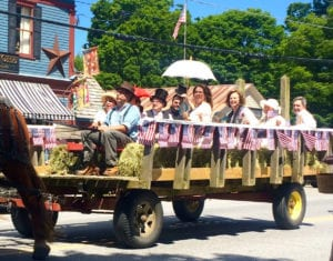 It was a beautiful day for an old-fashioned wagon ride.