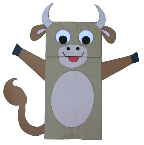 Paper Bag Cow, a Great Kid's Craft