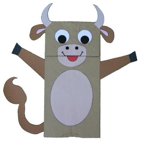Paper Bag Cow