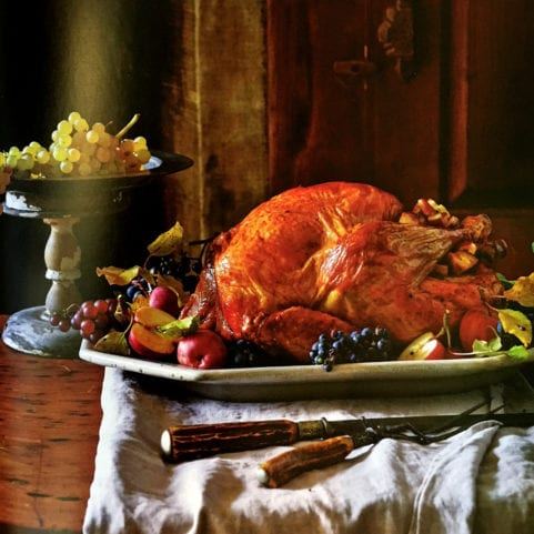 Traditional Roast Turkey with Apple-Sage Dressing