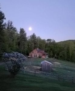 moonlit farm in vermont