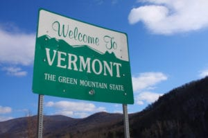 welcome sign vermont