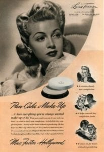 Pan-Cake Make-up from Max Factor - Vintage Ad