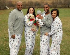 Family wearing Peanuts Snow Fun Pajamas