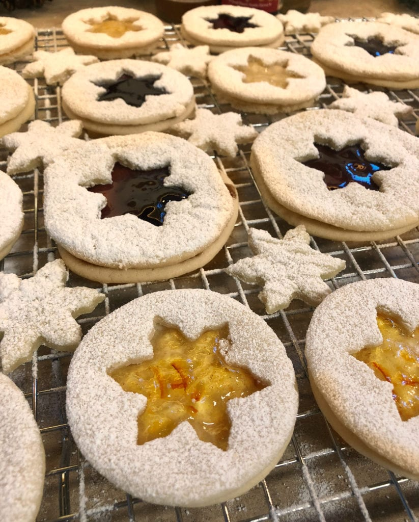 Butter Cookies with Christmas Jam