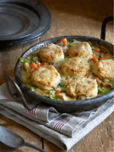 turkey potpie with biscuit topping