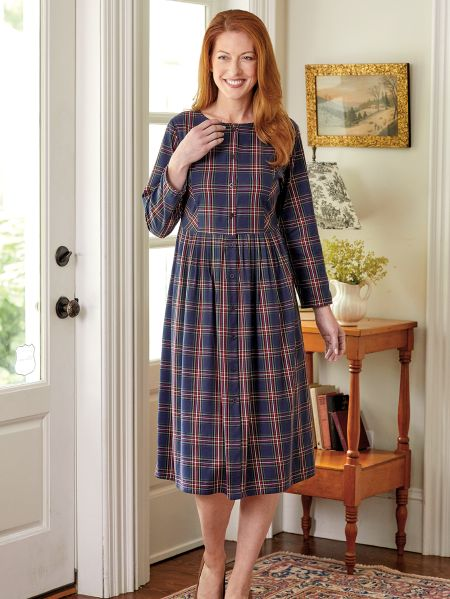 Ella Simone Plaid Dress