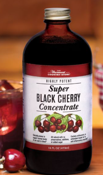 The Vermont Country Store, highly potent, super black cherry juice concentrate, 16 fl oz