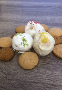 Cookie Button with truffles