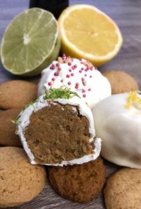 cut cookie button truffle