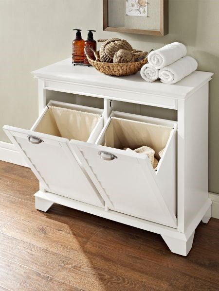white storage hamper