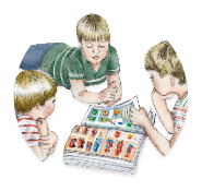 boys playing board games