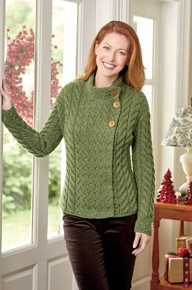 green irish sweater