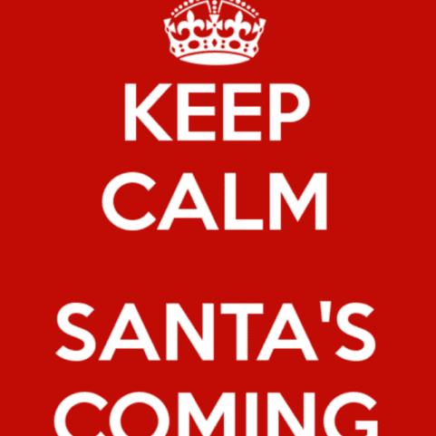 keep calm santa's coming