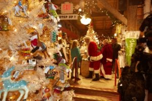 Santa in Weston Vermont Country Store