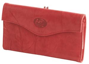 red buxton organizer clutch