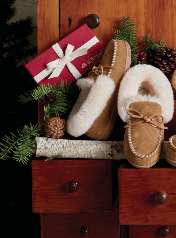 womens sheepskin slippers