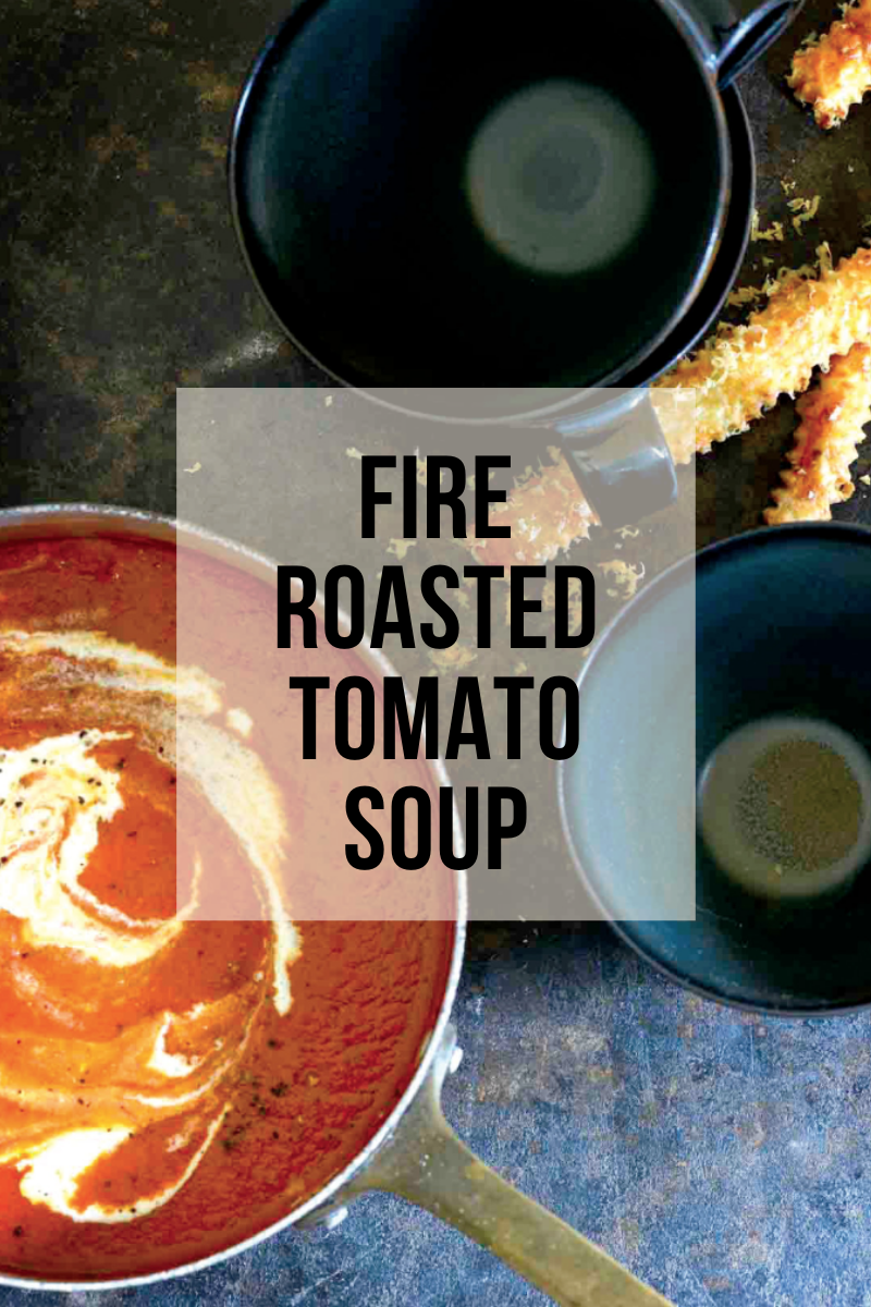fire roasted tomato soup cookware in use