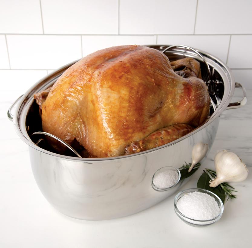 turkey in a deep roasting pan