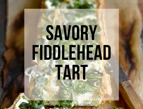 Savory Fiddlehead or Asparagus Tart